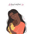 mothers day greeting card mother hugs baby vector image vector image