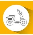 motorcycle icon design vector image vector image