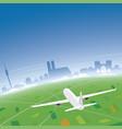 munich skyline flight destination vector image vector image