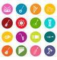 musical instruments icons many colors set vector image vector image