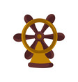 nautical isolated icon with handwheel vector image vector image