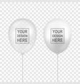 realistic white transparent balloon set vector image