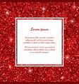 red glitter frame vector image