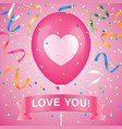 romantic greeting card vector image vector image