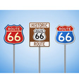 Route 66 Vintage Signs vector image vector image