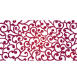 seamless background of curles vector image vector image