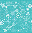 seamless christmas snowflakes background vector image vector image