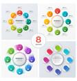 set modern circle charts infographic designs vector image vector image