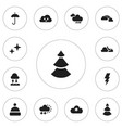 set of 12 editable climate icons includes symbols vector image vector image