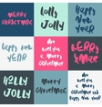 Set of 9 decorative Xmas greeting Card vector image