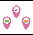 set of gps icon on white background gps sign vector image vector image