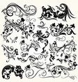 set of swirl vintage ornaments for design vector image vector image