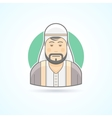 Sheikh arabian man icon vector image