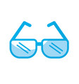 silhouette glasses element to can see vector image vector image