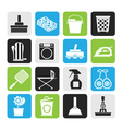 Silhouette Household objects and tools icons vector image vector image