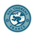 Ski emblem vector image vector image