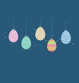 some easter eggs background decoration vector image