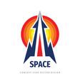 space rocket ship concept logo template vector image vector image