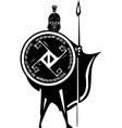 spartan soldier vector image vector image