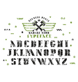 Stock set of serif stencil plate font vector image vector image