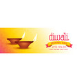 stylish happy diwali sale banner design vector image vector image