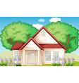 Suburban house vector image vector image