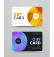 template of a white and black gift card with vector image vector image