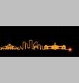 ulaanbaatar light streak skyline vector image vector image