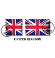 united kingdom of great britain flag pattern vector image