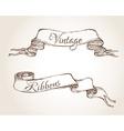 vintage banner ribbons vector image
