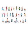 walking people persons in casual clothes crowd vector image vector image