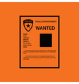 Wanted poster icon vector image vector image