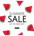watermelon sale poster vector image vector image