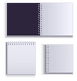 clean empty paper notepad for notes vector image