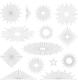 Set of vintage retro sunbursts vector image