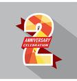 2th Years Anniversary Celebration Design vector image