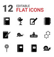 12 spiral icons vector image vector image