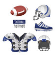 american football player outfit sportsuit vector image vector image