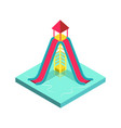 aqua park water slide isometric 3d element vector image