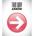 Arrow design vector image vector image