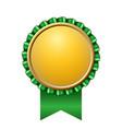 award ribbon gold icon golden green medal design