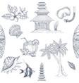 bali hand drawn pattern vector image vector image