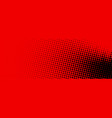 black and red dotted halftone banner vector image vector image