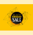 black friday sale background in technology vector image vector image