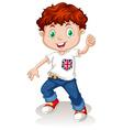 British boy wearing jeans vector image vector image