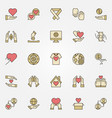 charity and donation creative icons set vector image