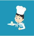 Cooking Icon Plate with Egg vector image