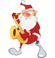 Cute Santa Claus Saxophonist vector image vector image