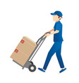 delivery guy vector image vector image