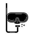 diving googles isolated icon vector image vector image